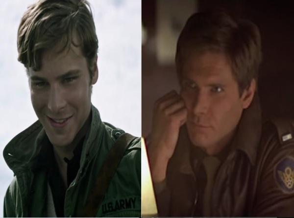 "Great Casting!  Anthony Ingruber in ""Adeline"" vs Harrison Ford in ""Hanover Street"" (1979)"