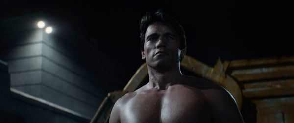 Pixellated Arnie:  impressive special effects