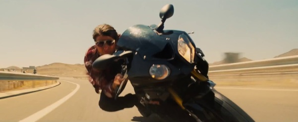 One Mann's Movies obviously DOESN'T condone biking without a helmet.
