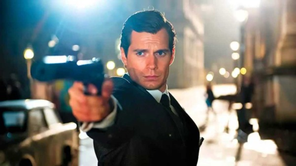 Cavill, clearly practicing for the Bond audition.